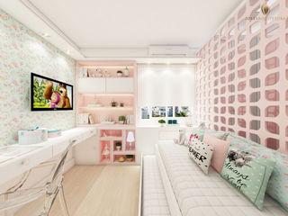 iost Arquitetura e Interiores Dormitorios pequeños Tablero DM Rosa