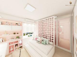 iost Arquitetura e Interiores Habitaciones para adolescentes Tablero DM Rosa
