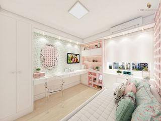 iost Arquitetura e Interiores Habitaciones para niñas Tablero DM Rosa