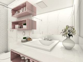 iost Arquitetura e Interiores Baños modernos Tablero DM Rosa