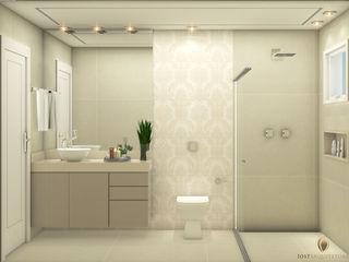 iost Arquitetura e Interiores Baños modernos Tablero DM Beige