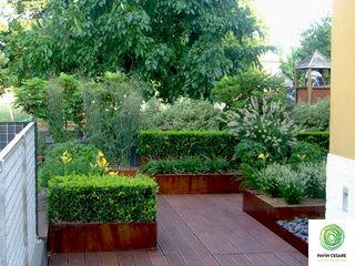 Terrazzi Giardini Pavin Cesare Balcone, Veranda & Terrazza in stile moderno