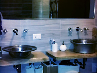 Restyling di un bagno Dilegno InLegno Bagno in stile scandinavo Legno massello Effetto legno