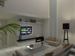 AJR ARQUITETURA Salon moderne