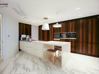 cocina Cocinas de estilo moderno Tablero DM Blanco