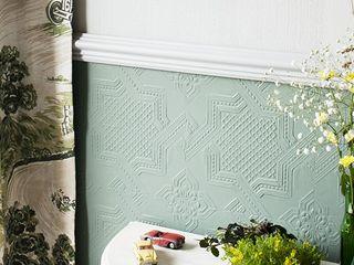 House Frame Wallpaper & Fabrics Espacios comerciales de estilo clásico