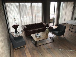 Ecologik Industrial style living room Wood Grey