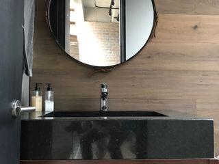 Ecologik Industrial style bathroom Wood Black