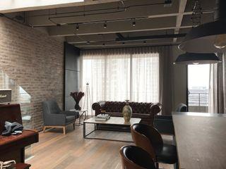 Ecologik Industrial style living room Grey