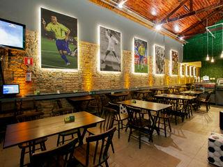 RK Arquitetura & Design Bars & clubs Bricks Multicolored