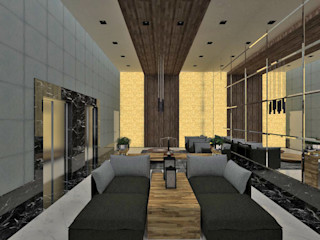 Studio Diego Duracenski Interiores Modern corridor, hallway & stairs Solid Wood Wood effect