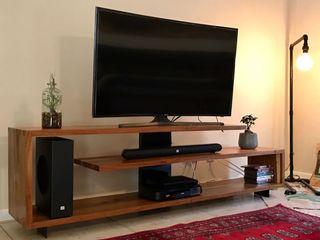 GreenCube Design Pty Ltd غرفة الملتيميدياأثاث خشب