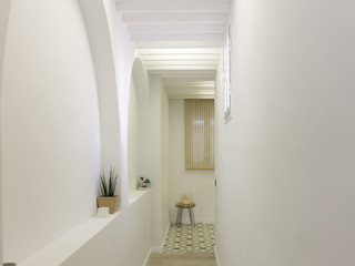 emmme studio Couloir, entrée, escaliers scandinaves Bois Blanc