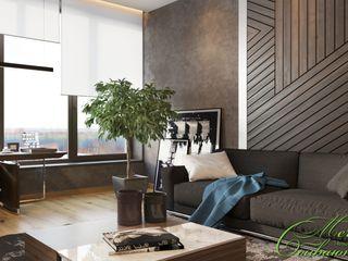 Компания архитекторов Латышевых 'Мечты сбываются' Espaços de trabalho minimalistas