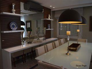 Sala de Jantar Moderna e Despojada DecaZa Design Dining roomTables MDF Multicolored