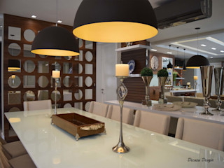 Sala de Jantar Moderna e Despojada DecaZa Design Dining roomAccessories & decoration Glass Multicolored
