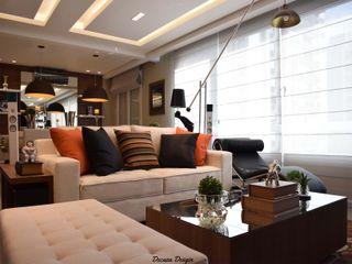 Contemporaneidade e Integração de Espaços na Sala de Estar DecaZa Design Living roomSofas & armchairs