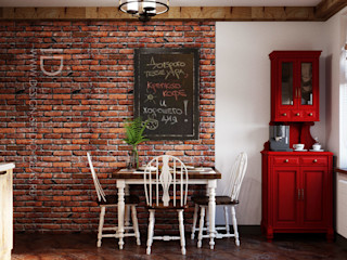 Студия дизайна ROMANIUK DESIGN Industrial style kitchen Brown