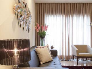 RK Arquitetura & Design Living roomAccessories & decoration Textile Beige