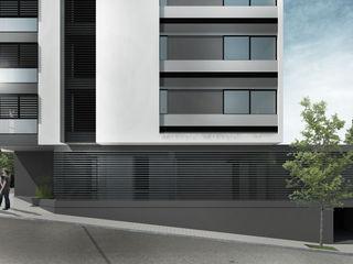 Proa Arquitectura Moderne slaapkamers Stenen Grijs