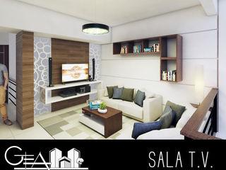 GRUPO ESCALA ARQUITECTOS Modern Media Room