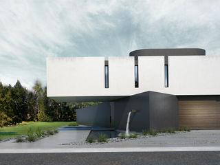 Proa Arquitectura Minimalistische slaapkamers Gewapend beton Wit