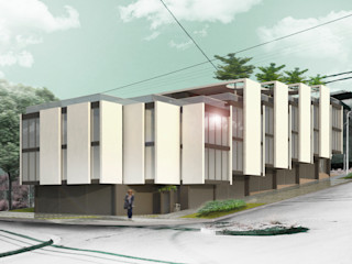 Proa Arquitectura Moderne slaapkamers Stenen Wit