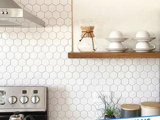 Antalya Fayans Ustası - 0 546 737 07 38 現代廚房設計點子、靈感&圖片 陶器 Beige