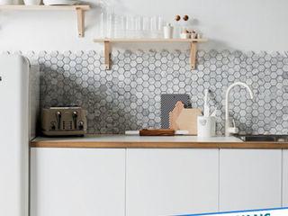 Antalya Fayans Ustası - 0 546 737 07 38 現代廚房設計點子、靈感&圖片 陶器 Grey
