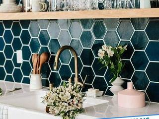 Antalya Fayans Ustası - 0 546 737 07 38 現代廚房設計點子、靈感&圖片 陶器 Black