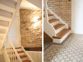Stumpf Parkett GmbH Corridor, hallway & stairsStairs Wood