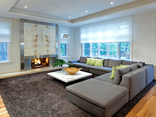 Modern Retreat Douglas Design Studio Modern living room Grey