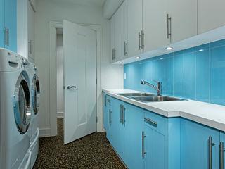 Laundry Room Douglas Design Studio گاراژ/ سایه بان Blue