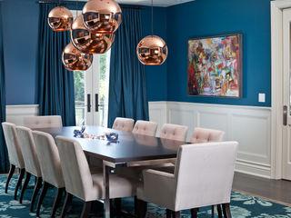Bright Contemporary Home Douglas Design Studio Modern dining room Blue