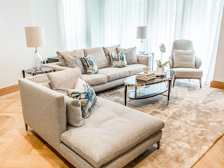 Abell House, Westminster, London Hampstead Design Hub Living roomSofas & armchairs Wool Grey