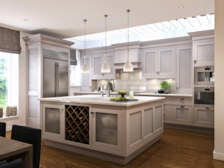 Kensington Court, London Hampstead Design Hub Modern kitchen Grey