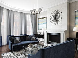 Kensington Court, London Hampstead Design Hub Modern living room Grey