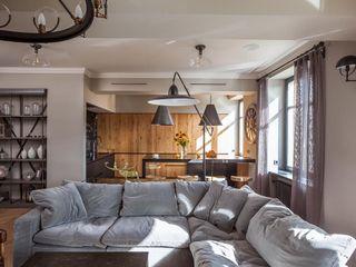 Hampstead Apartment, London Hampstead Design Hub Industrial style living room