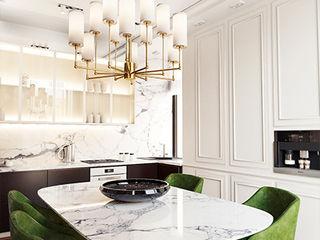 IK-architects Ruang Keluarga Gaya Eklektik