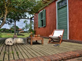 CABRAL Arquitetos Casas de estilo rural Madera maciza