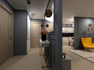 AM Design Klassischer Flur, Diele & Treppenhaus Grau