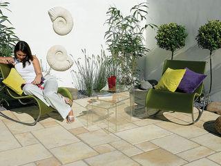 Exterior Traverti pavement Fabistone Patios & Decks