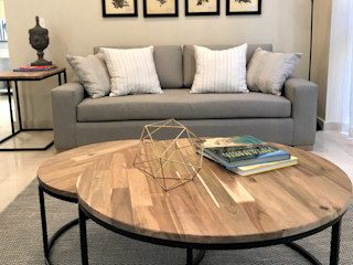 Ecologik Eclectic style living room Grey