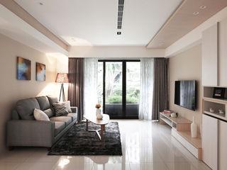 築一國際室內裝修有限公司 Salas de estilo moderno