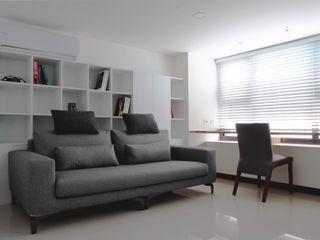 築一國際室內裝修有限公司 Гостиная в стиле модерн