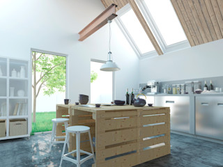 Ibu 3d Cocinas modernas Concreto Blanco