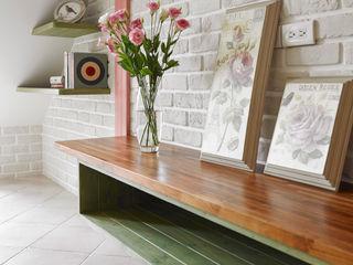 美式鄉村風-小坪數夾層屋 Color-Lotus Design 客廳電視櫃 實木 Green