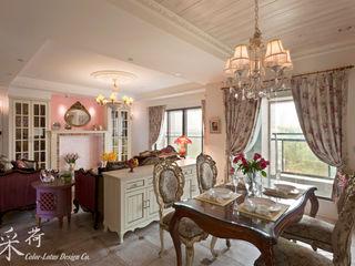 華麗復古,法式鄉村 Color-Lotus Design 餐廳桌子 實木 Brown