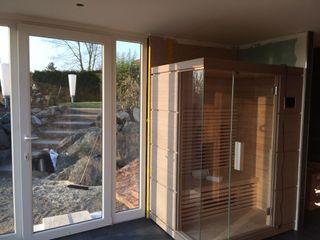 Exklusive Sauna Fa. RESANEO® Moderner Spa Holz Blau
