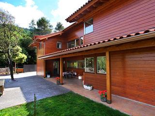 RUSTICASA Casa di legno Legno massello Effetto legno